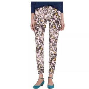 Madewell Sz 26 Skinny Skinny Ankle Floral Jeans